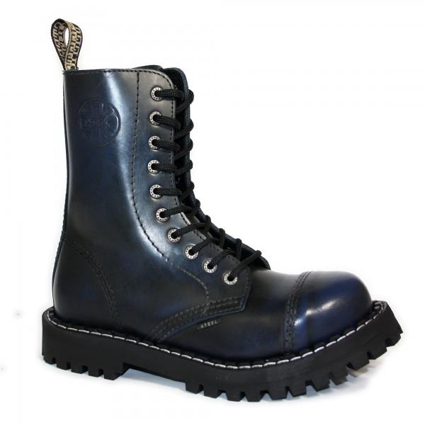 Steel Boots 10-loch blau